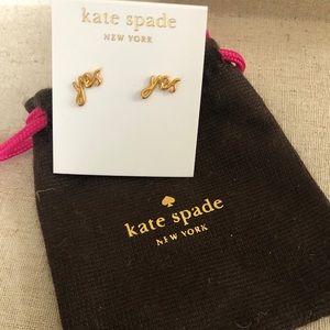Kate Spade yes stud earrings